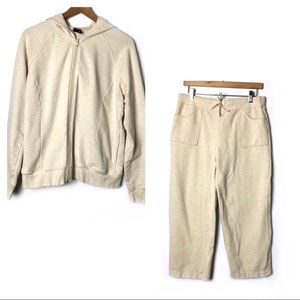NAUTICA Tan Two Piece Sweat Set Hoodie Sweatpants